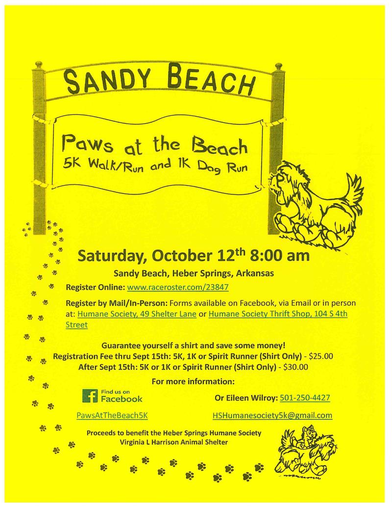 Paws at the Beach 5k Walk/Run