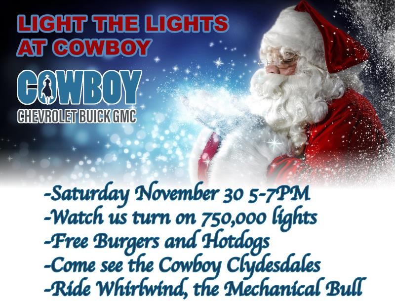 Light the Lights at Cowboy Chevrolet