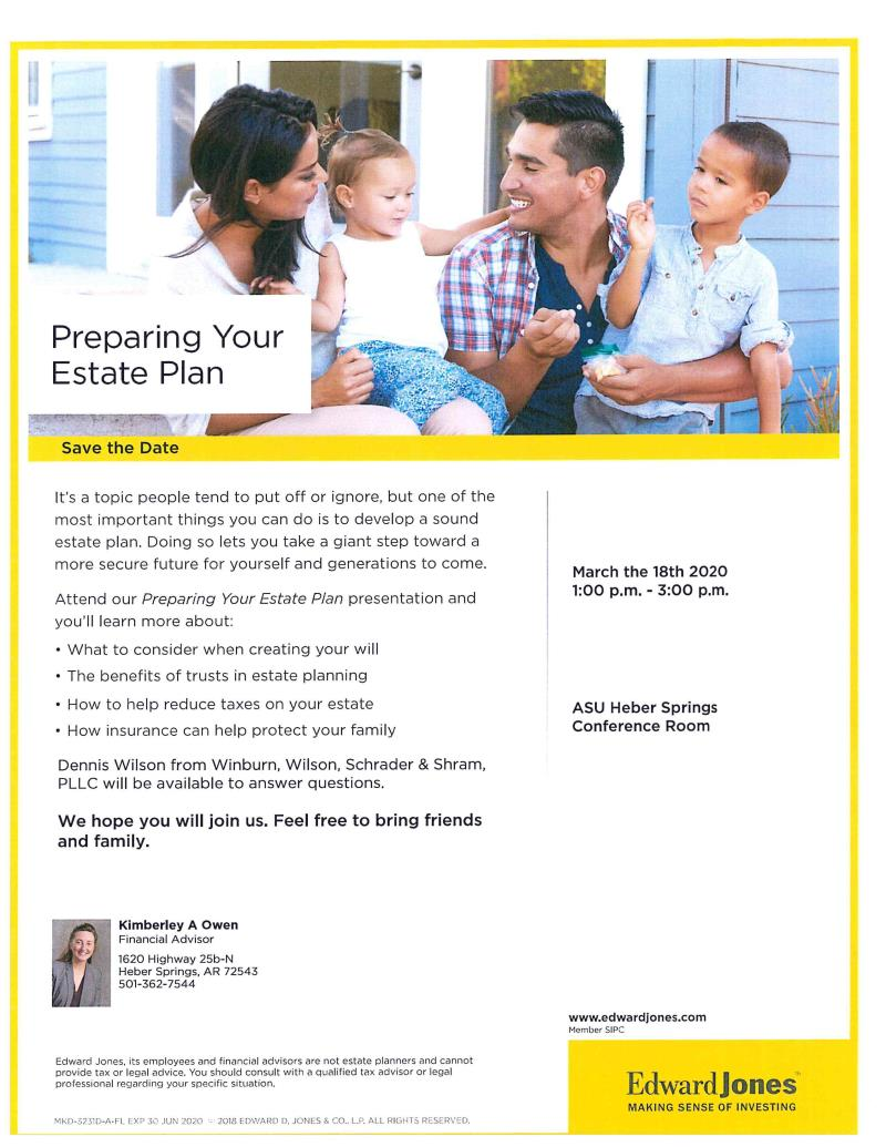 Preparing Your Estate Plan by Edward Jones